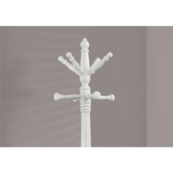 Monarch Tradional Coat Rack - 73-in - Antique White