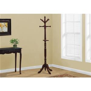 Monarch Contemporary Coat Rack - 73-in - Cherry