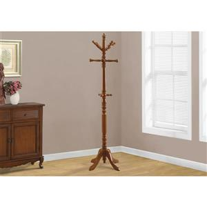 Monarch Contemporary Coat Rack - 73-in - Oak