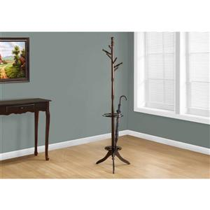 Monarch Contemporary Coat Rack - 71-in - Dark Cherry