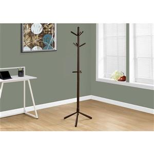 Monarch Contemporary Coat Rack - 69-in - Cappuccino
