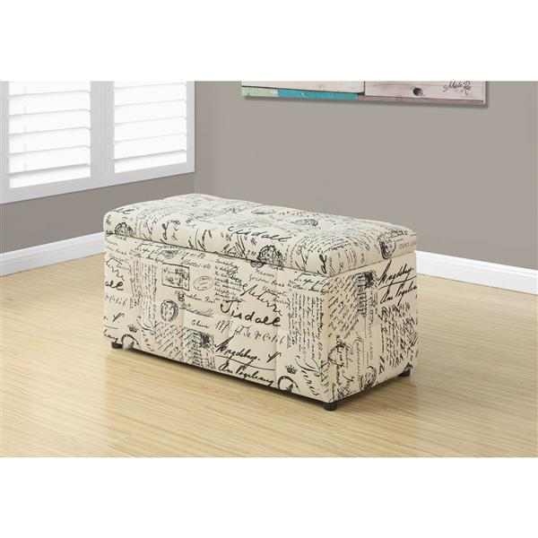 Monarch Vintage French Fabric Ottoman - 38-in