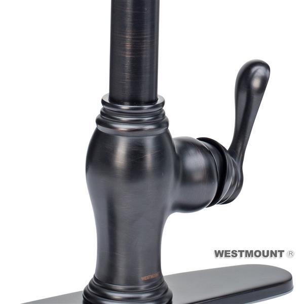 Westmount Denver Kitchen Faucet - Pull-Down Spray - Antique - 23-in