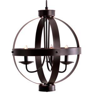 Lampe suspendue Cresswell à 3 lumières,  orbe bronze