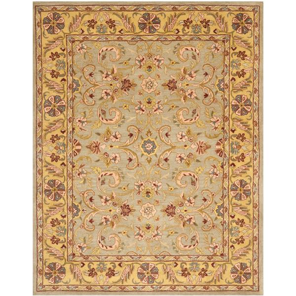 Safavieh Heritage Floral Rug - 7.5' x 9.5' - Wool - Gray/Gold
