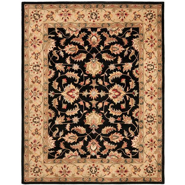 Safavieh Heritage Floral Rug - 7.5' x 9.5' - Wool - Black/Beige