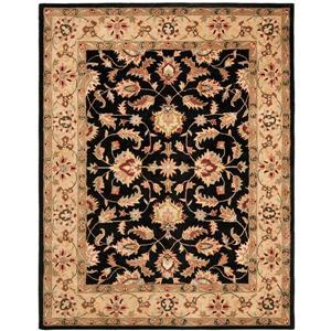 Heritage Floral Rug - 7.5' x 9.5' - Wool - Black/Beige