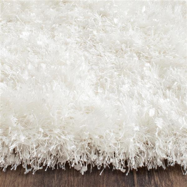 Safavieh Malibu Shag Solid Rug   - 7' x 7' - Polyester - White