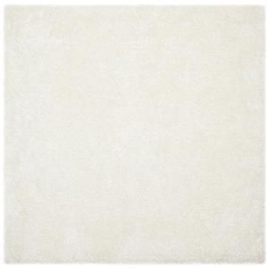 Malibu Shag Solid Rug   - 7' x 7' - Polyester - White