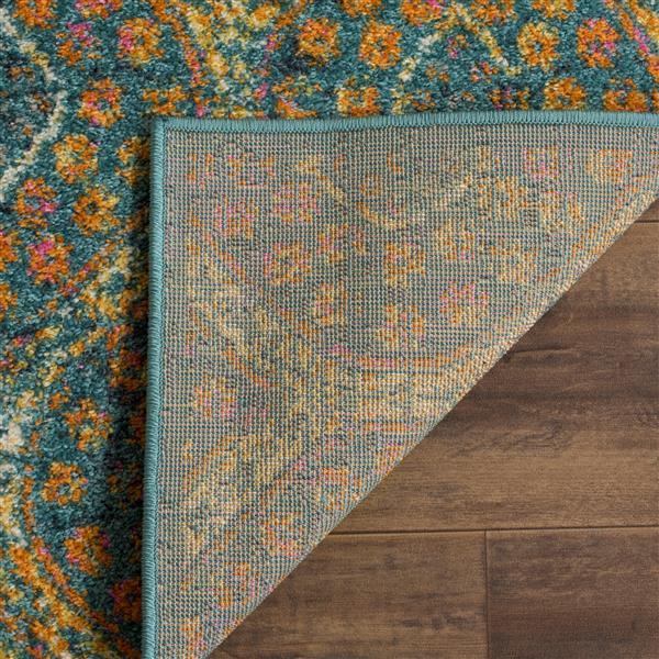 Safavieh Madison Rug - 2.3' x 8' - Polypropylene - Blue/Orange