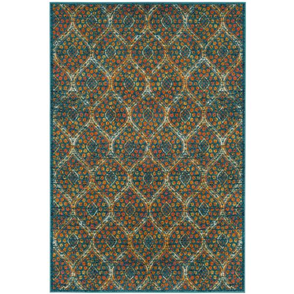 Safavieh Madison Rug - 4' x 6' - Polypropylene - Blue/Orange