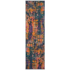 Madison Rug - 2.3' x 8' - Polypropylene - Blue/Orange