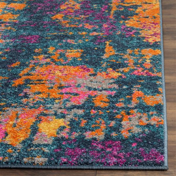 Safavieh Madison Abstract Rug - 3' x 5' - Polypropylene - Blue/Orange