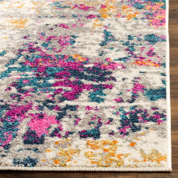 Safavieh Madison Abstract Rug - 3' x 5' - Polypropylene - Ivory/Blue