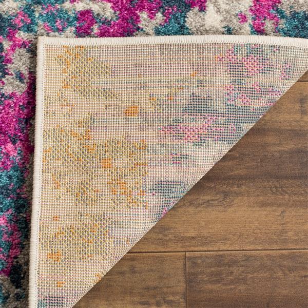 Safavieh Madison Abstract Rug - 4' x 6' - Polypropylene - Ivory/Blue