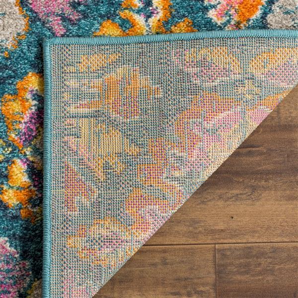 Safavieh Madison Floral Rug - 4' x 6' - Polypropylene - Blue/Orange