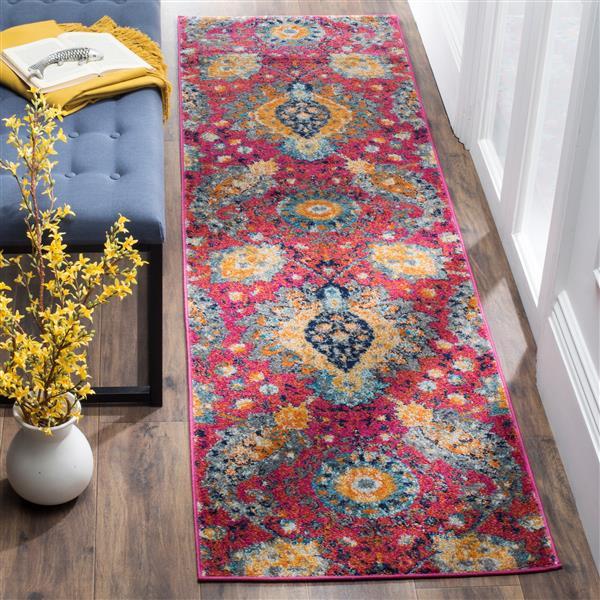 Safavieh Madison Rug - 2.3' x 8' - Polyester - Fuchsia/Gold