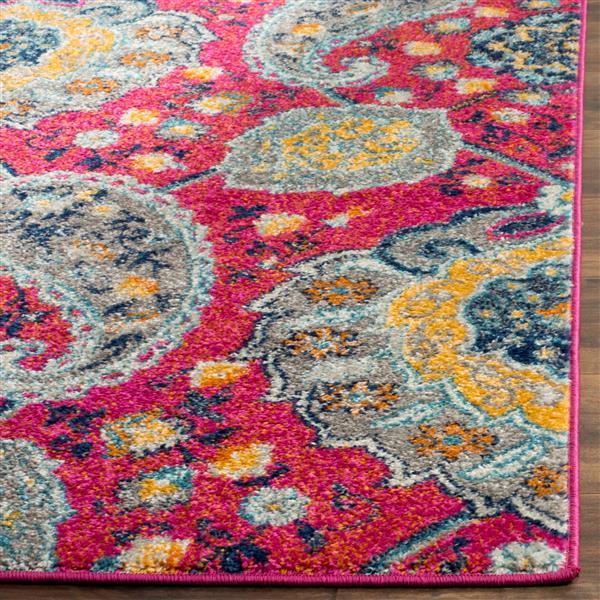 Safavieh Madison Rug - 4' x 6' - Polyester - Fuchsia/Gold