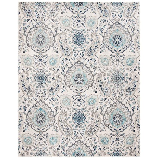 Safavieh Madison Rug - 12' x 15' - Polyester - Cream/Light Gray