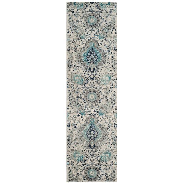 Safavieh Madison Rug - 2.3' x 18' - Polyester - Cream/Light Gray