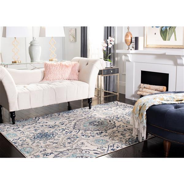 Safavieh Madison Rug - 3' x 5' - Polyester - Cream/Light Gray