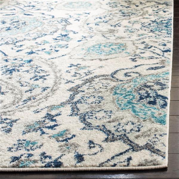 Safavieh Madison Rug - 5.1' x 7.5' - Polyester - Cream/Light Gray