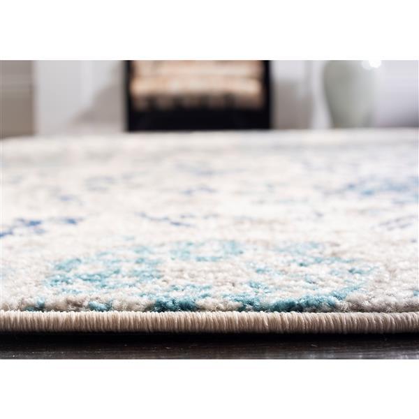 Safavieh Madison Rug - 5' x 5' - Polyester - Cream/Light Gray