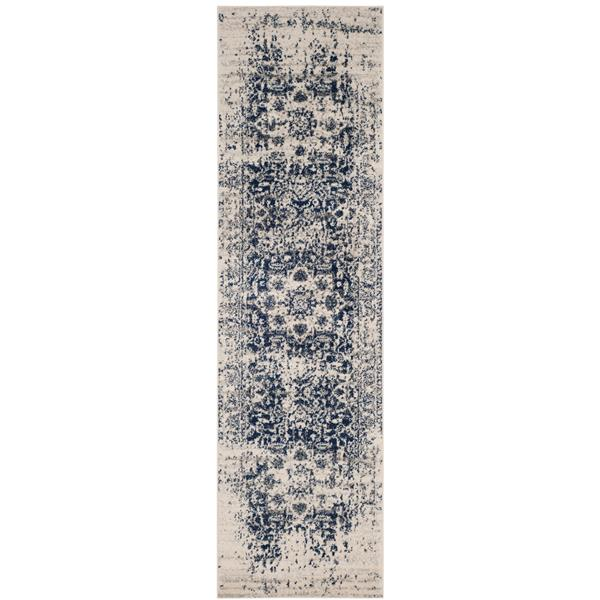 Safavieh Madison Rug - 2.3' x 6' - Polyester - Cream/Navy Blue