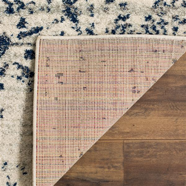 Safavieh Madison Rug - 5' x 5' - Polyester - Cream/Navy Blue