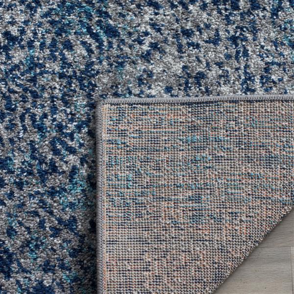 Safavieh Madison Ikat Rug - 2.3' x 12' - Polyester - Navy Blue/Silver