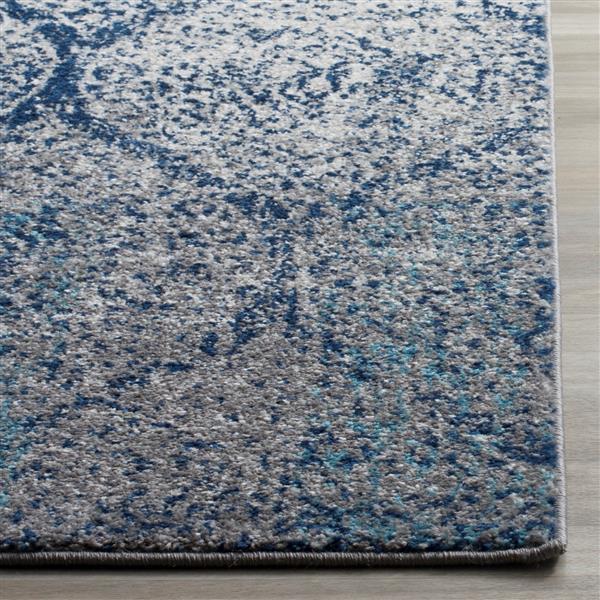 Safavieh Madison Ikat Rug - 3' x 5' - Polyester - Navy Blue/Silver