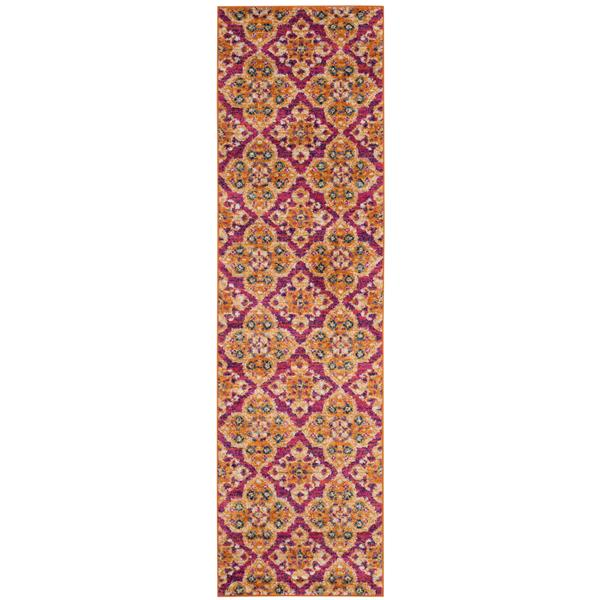 Safavieh Madison Floral Rug - 2.3' x 8' - Polyester - Fuchsia/Gold
