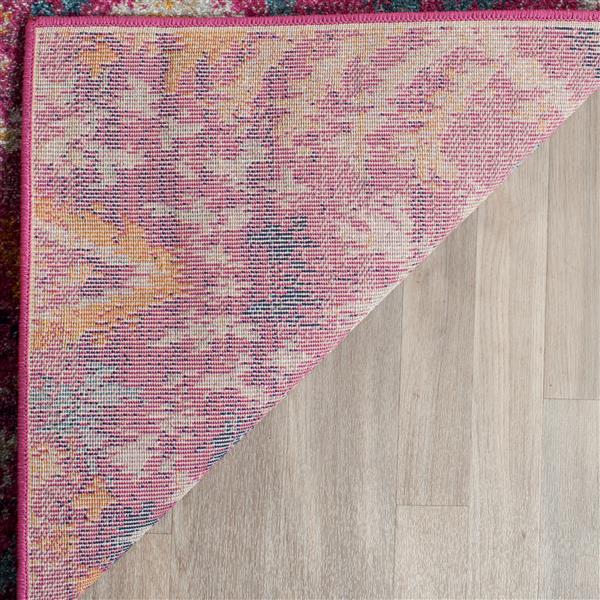 Safavieh Madison Ikat Rug - 10' x 14' - Polyester - Fuchsia/Multi