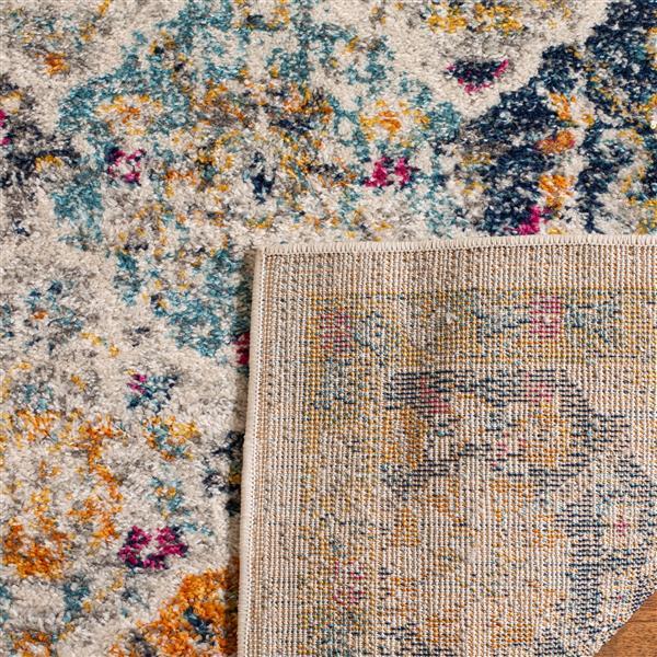 Safavieh Madison Ikat Rug - 11' x 15' - Polyester - Cream/Multi