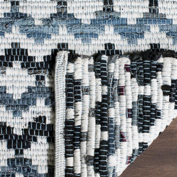 Safavieh Montauk Stripe Rug - 6' x 6' - Cotton - Blue/Black