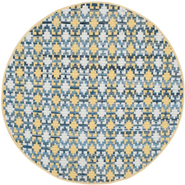 Safavieh Montauk Stripe Rug - 4' x 4' - Cotton - Gold/Multi