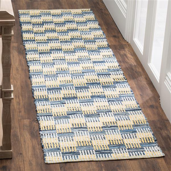 Safavieh Montauk Stripe Rug - 2.3' x 8' - Cotton - Gold/Multi