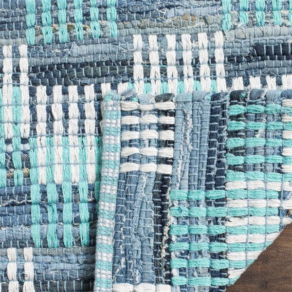 Safavieh Montauk Stripe Rug - 2.3' x 6' - Cotton - Turquoise/Multi