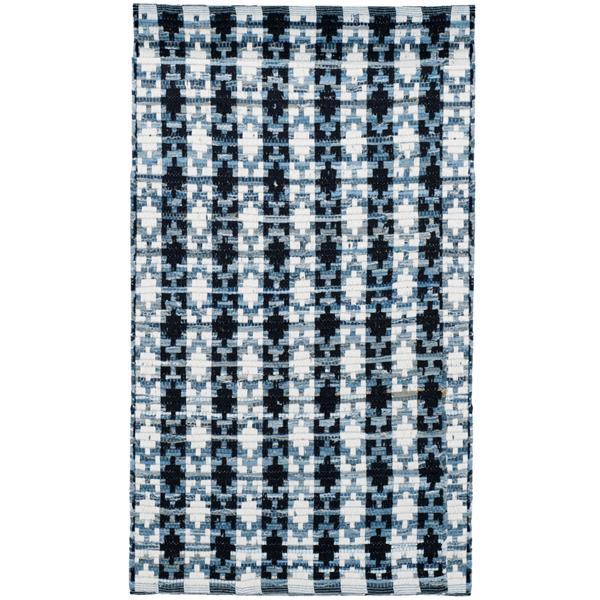 Safavieh Montauk Stripe Rug - 2.5' x 4' - Cotton - Ivory/Black