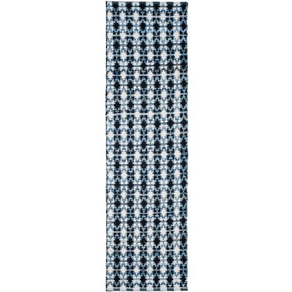 Safavieh Montauk Stripe Rug - 2.3' x 6' - Cotton - Ivory/Black