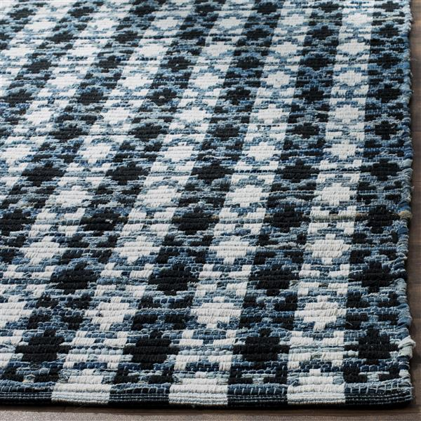 Safavieh Montauk Stripe Rug - 6' x 6' - Cotton - Ivory/Black