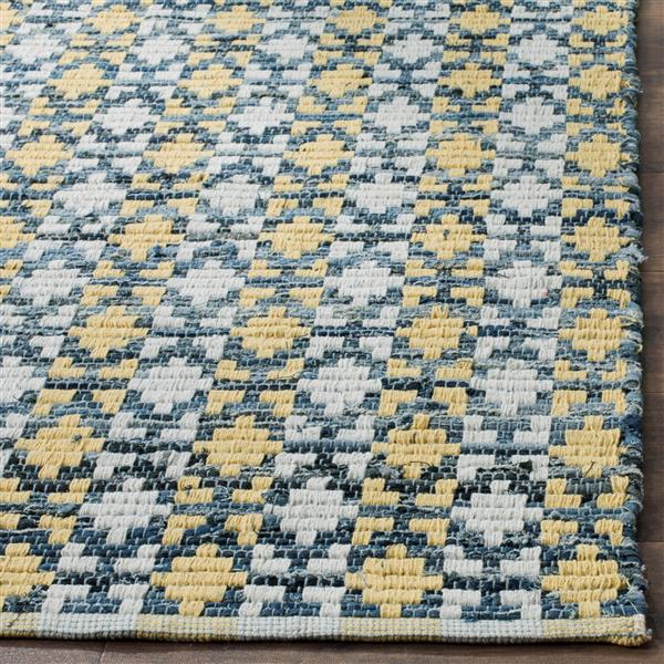 Safavieh Montauk Stripe Rug - 2.3' x 6' - Cotton - Gold/Multi