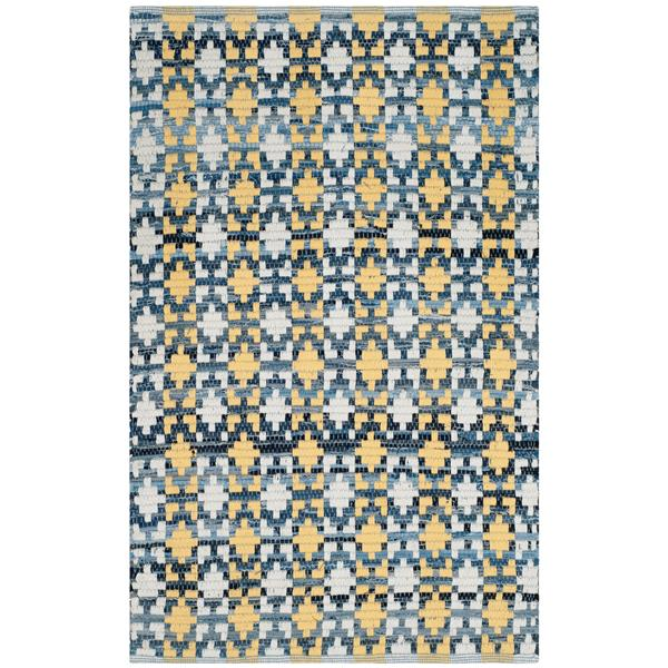 Safavieh Montauk Stripe Rug - 2.5' x 4' - Cotton - Gold/Multi