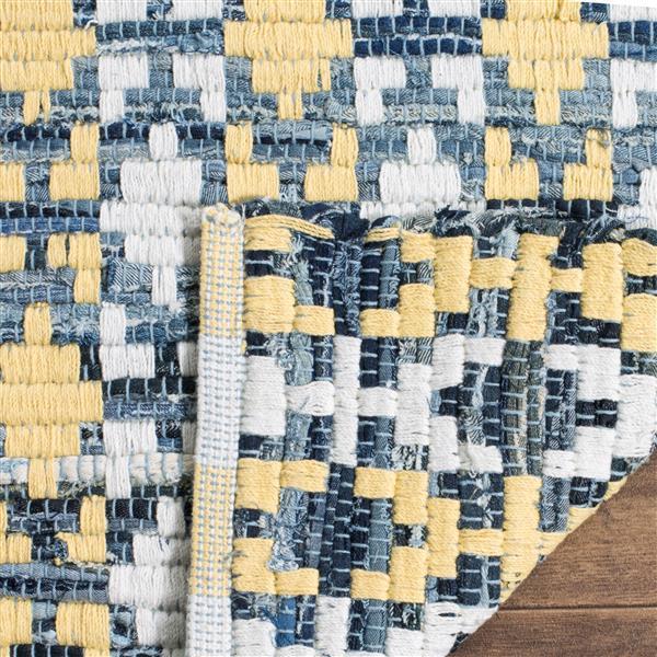 Safavieh Montauk Stripe Rug - 2.3' x 8' - Cotton - Gold/Multi