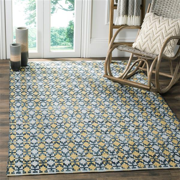 Safavieh Montauk Stripe Rug - 6' x 6' - Cotton - Gold/Multi