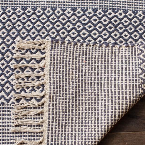 Safavieh Montauk Stripe Rug - 2.3' x 8' - Cotton - Ivory/Navy Blue