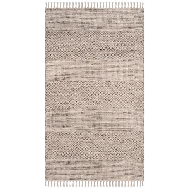Safavieh Montauk Stripe Rug - 3' x 5' - Cotton - Ivory/Gray
