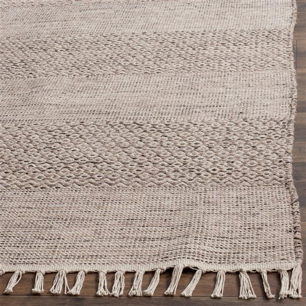 Safavieh Montauk Stripe Rug - 4' x 6' - Cotton - Ivory/Gray