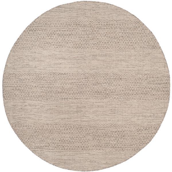 Safavieh Montauk Stripe Rug - 6' x 6' - Cotton - Ivory/Gray
