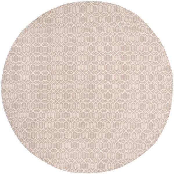 Safavieh Montauk Geometric Rug - 6' x 6' - Cotton - Ivory/Gray